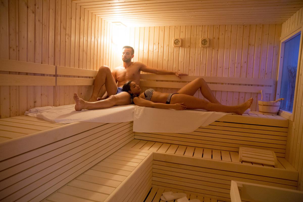 interno della sauna